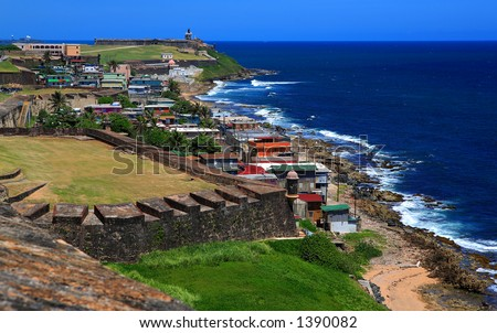La Perla San Juan Puerto Rico - stock photo