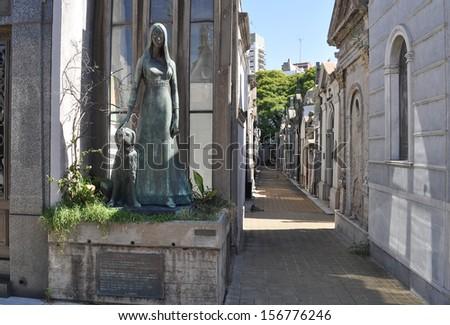 La Recoleta Cemetery. Buenos Aires. Argentina - stock photo