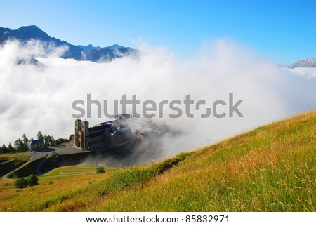 La Salette in French Alps - stock photo