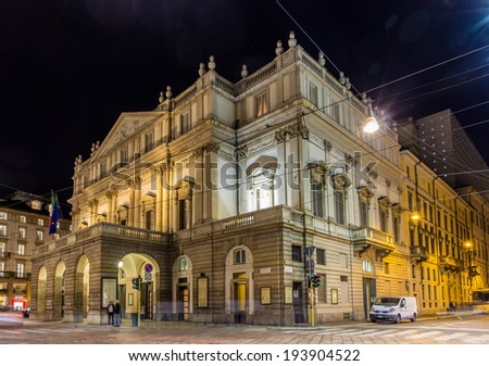 La Scala, an opera house in Milan, Italy - stock photo