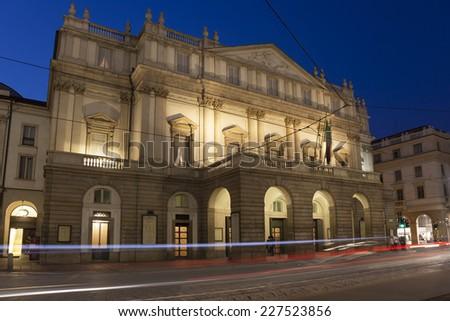 La Scala Opera House, Milan, Lombardy, Italy - stock photo