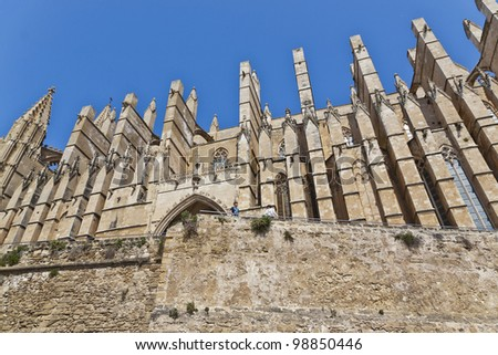 La Seu Cathedral in Palma de Mallorca, Spain - stock photo