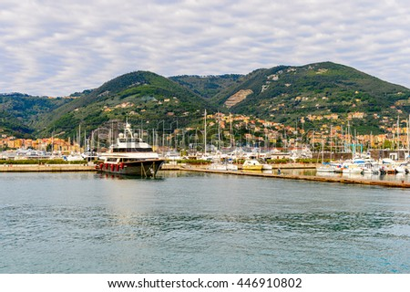 LA SPEZIA, ITALY -MAY 5, 2016: Yachts and boats at the port of La Spezia. La Spezia is the capital city of the province of La Spezia