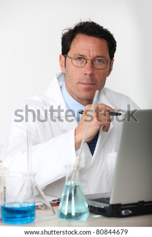 Lab technician - stock photo