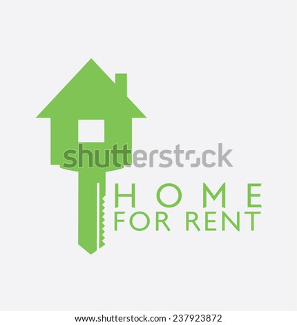 Label design for : Rent Home - stock photo
