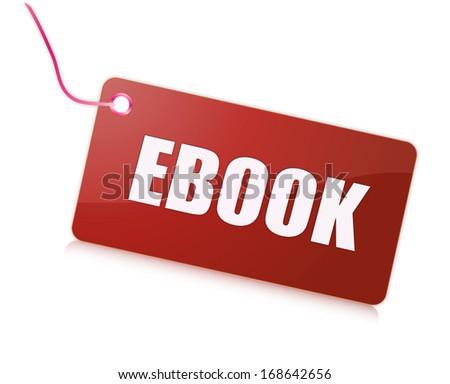 Label ebook - stock photo