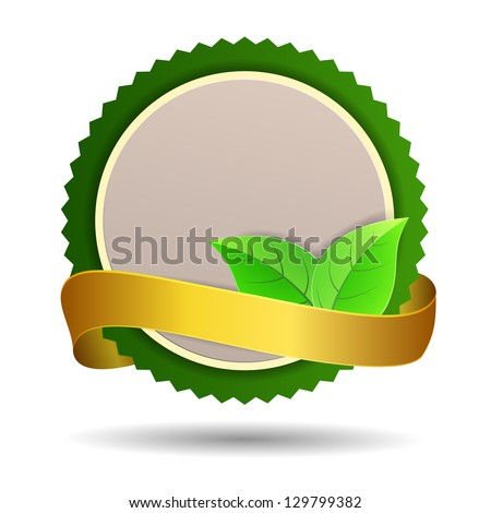 Label for natural products. Raster version - stock photo