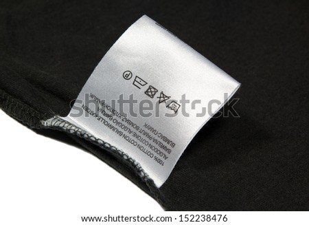 Label for wash on white background.  - stock photo