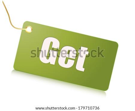 Label get - stock photo