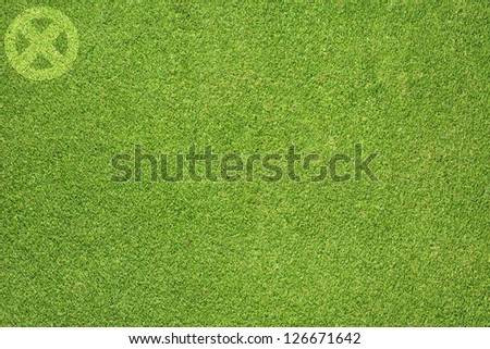 Label icon on green grass background