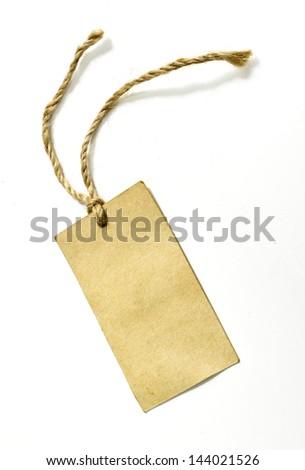 Label isolated on white - stock photo
