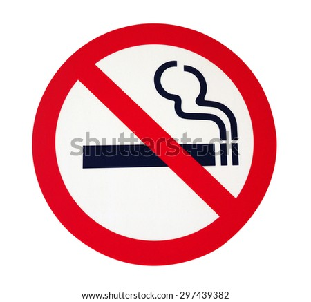 Label no smoking metal sign - stock photo
