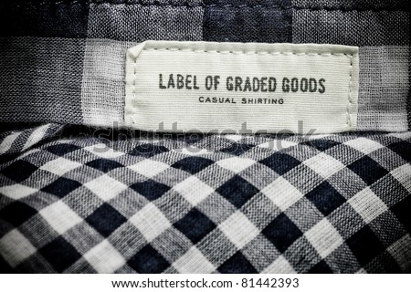 Label of graded goods - stock photo