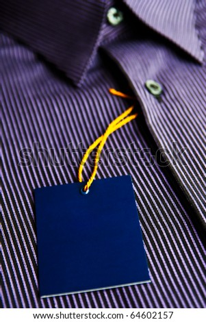 Label of new men's shirt - stock photo
