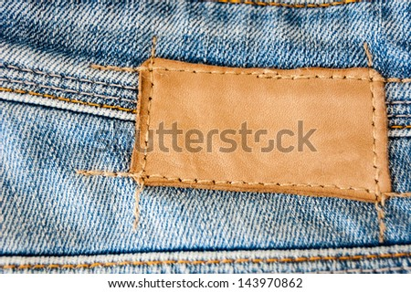 label on the blue jeans - stock photo