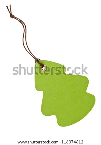 Label on the white background - stock photo