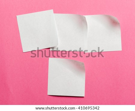 Label. Paper stickers for the notes - stock photo