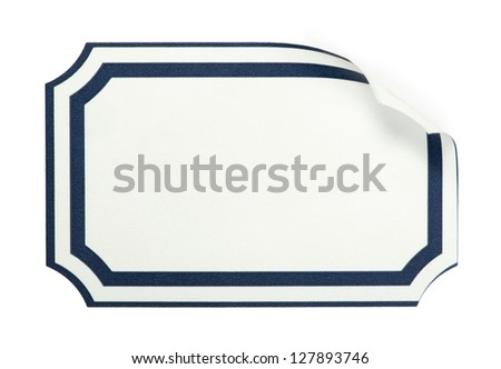 Label paper with boarder. Sticker label . - stock photo