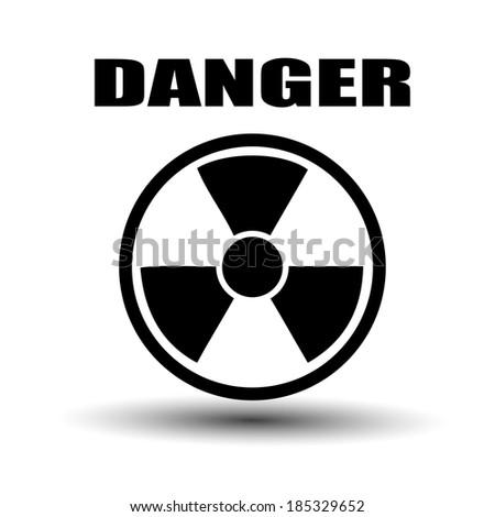 Label radiation hazard - stock photo