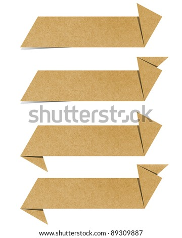 Label recycled paper craft - stock photo