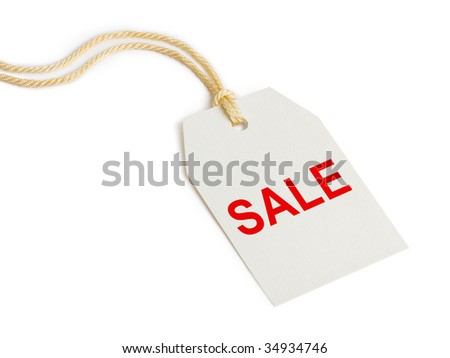 Label Sale isolated on white background