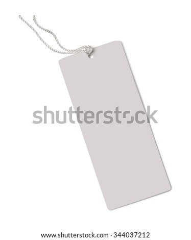label (tag) isolated on white background with clipping path - stock photo