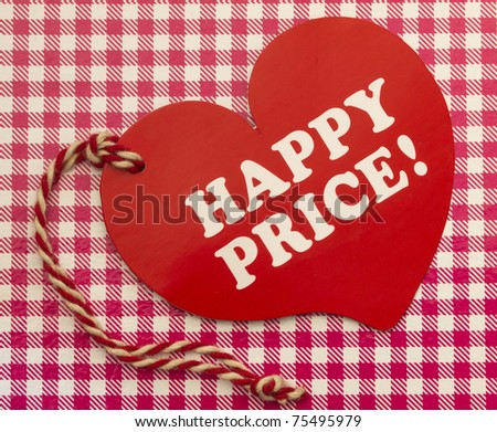 Label with Happy Price title - stock photo