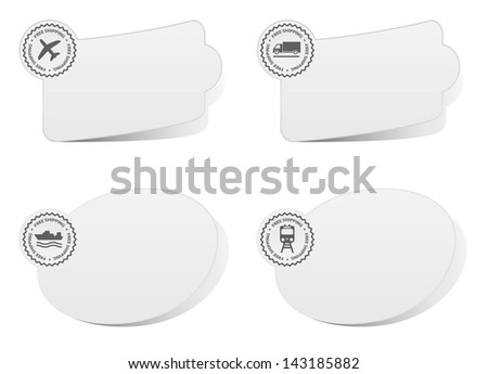labels gray - free shipping - stock photo