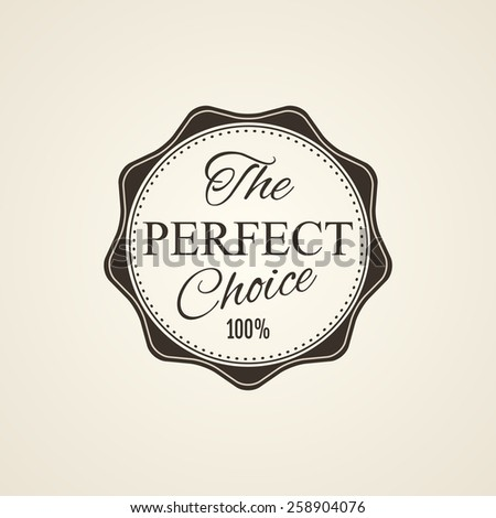 Labels with retro vintage styled design - stock photo