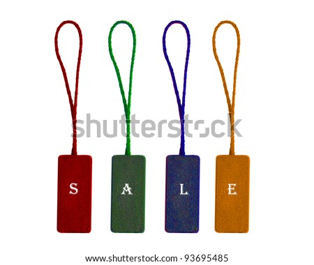 labels with word sale - stock photo