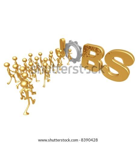 Labor Gear Jobs - stock photo
