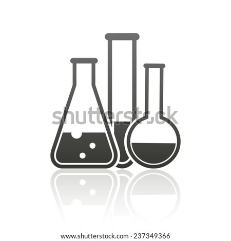 laboratory equipment icon - stock photo