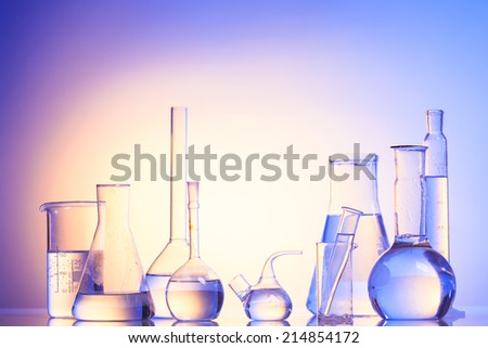 Laboratory glass for chemistry or medicine for research still life - stock photo
