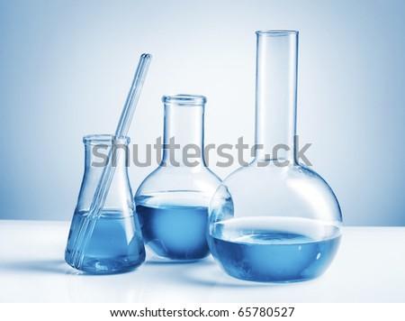 Laboratory glassware - stock photo