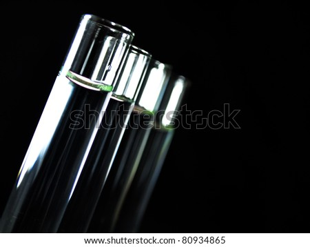 Laboratory glassware equipment, Experimental science research in laboratory - stock photo