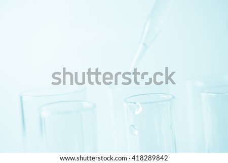 laboratory glasswares in soft color style