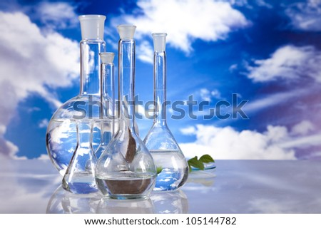 Laboratory  on sky background