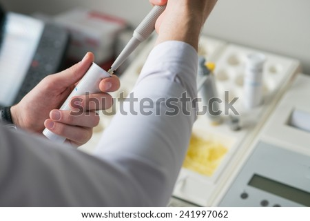 laboratory research - stock photo