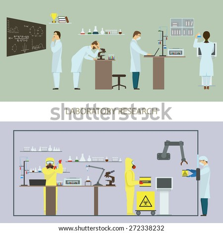 Laboratory Research by Group of Scientists - stock photo