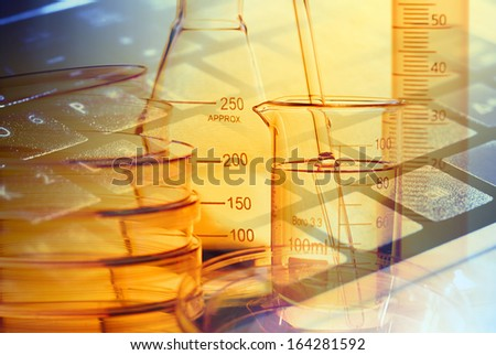 Laboratory tools. Macro image. Laboratory concept. - stock photo