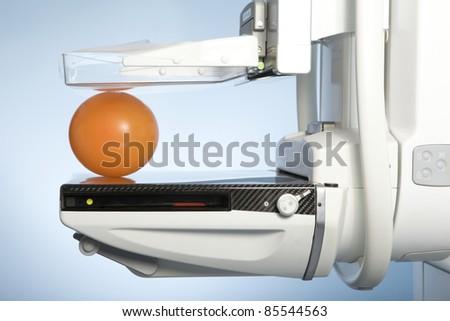 laboratory with mammography machine - stock photo
