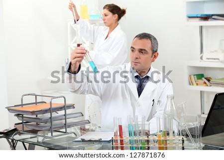 Laboratory work - stock photo