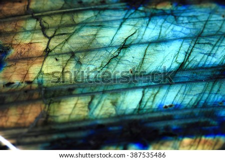 labradorite mineral as nice natural blue background - stock photo