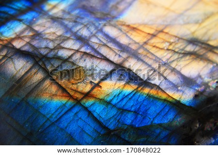 labradorite mineral background - stock photo