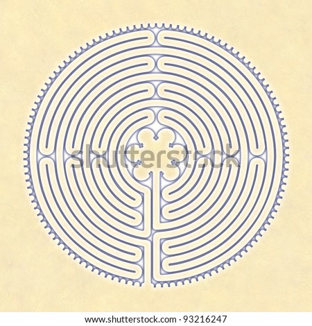 Labyrinth Peace Chartres - stock photo