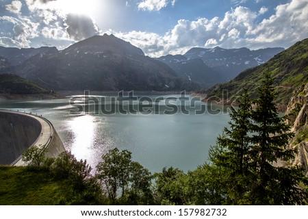 Lac d'Emosson, Switzerland - stock photo