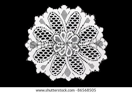 lace doilies - stock photo