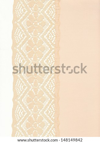 Lace on the fabric - stock photo