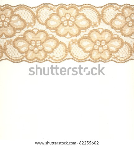 lace on white background - stock photo