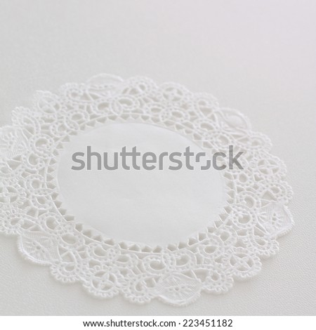 lace paper for background image - stock photo